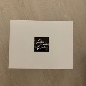 Saks Fifth Avenue gift box w tissue paper + string